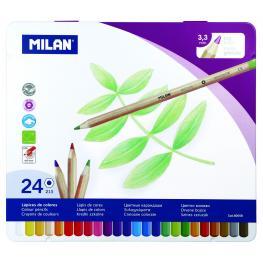 Caja Metalica 24 Pinturas Mina 3.5Mm Milan