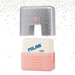 Milan Goma 430 Con Funda Protectora School Silver
