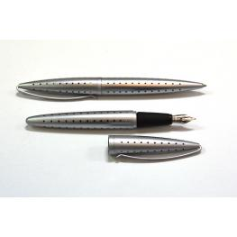 Cerrutti Juego Estilografica + Boligrafo N.C. 1881 Brush Aluminio Nc-Brush