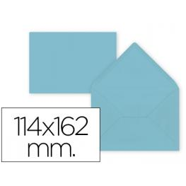 Paq. 15 Sobres Azul Celeste 114X162 Solapa Pico 80Gr Liderpapel Sb29