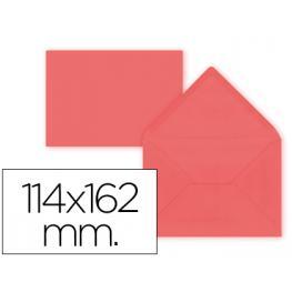 Paq. 15 Sobres Rojo 114X162 Solapa Pico 80Gr Liderpapel Sb38