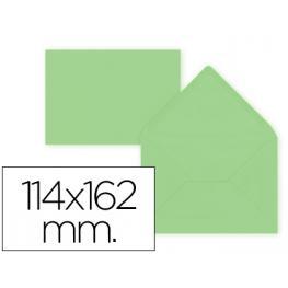 Paq. 15 Sobres Verde 114X162 Solapa Pico 80Gr Liderpapel Sb33