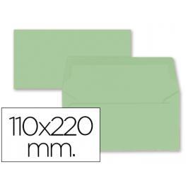 Paq. 9 Sobres Americanos 110X220 Verde 80Gr Liderpapel Sb67
