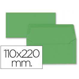 Paq. 9 Sobres Americanos 110X220 Verde Acebo 80Gr Liderpapel Sb69