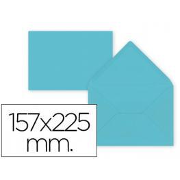 Paq. 9 Sobres Azul Celeste 157X225 Solapa Pico 80Gr Liderpapel