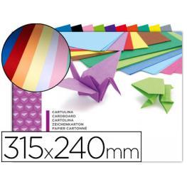 Bloc 10 Hojas Fº Cartulinas Colores Surtidos Liderpapel