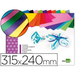 Bloc 10 Hojas Fº Charol Colores Surtidos Liderpapel