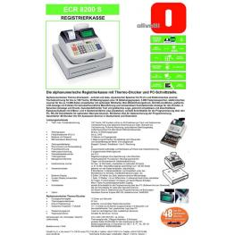 Olivetti Caja Registradora Ecr 8200S Alfanumérica 2 Displays Termico B4393001