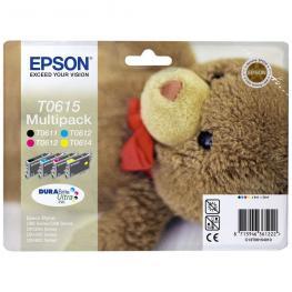 Epson Cartucho Inyeccion T0615 Negro/amarillo/cyan/magenta Blister C13T06154010