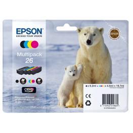 Epson Cartuchos Inyeccion 26 Negro/amarillo/cyan/magenta Pack 4 Blister C13T26164010