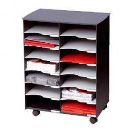 Paperflow Mueble Multiuso 14 Compartimentos 69,9X54,2X32,2Cm A4 Negro Dc14.01