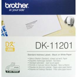 Brother Etiqueta 400 Ud 29X90Mm Negro/blanco Dk11201
