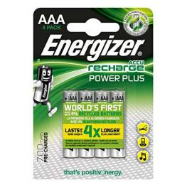 Energizer Rechargeable Power Plus Aaa X 4 700 Mah E300626600
