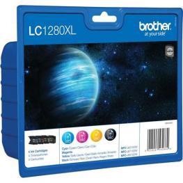 Brother Cartuchos Inyeccion Lc1280Xl Negro/amarillo/cyan/magenta Multipack 4 0 Lc1280Xlvalbp