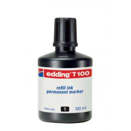 Edding Bote Tinta T100 100 Ml Negro T100-01