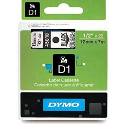 Dymo Cintas D1 Rotulacion 12 Mm X 7 M Negro/transparente Adhesivo Permanente