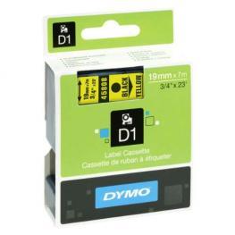 Dymo Cintas D1 Rotulacion 19 Mm X 7 M Negro/amarillo Adhesivo Permanente S0720880