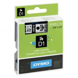Dymo Cintas D1 Rotulacion 9 Mm X 7 M Negro/transparente Adhesivo Permanente S0720670