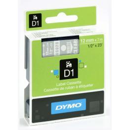 Dymo Cintas D1 Rotulacion 12 Mm X 7 M Blanco/transparente Adhesivo Permanente S0720600
