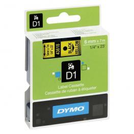Dymo Cintas D1 Rotulacion 6 Mm X 7 M Negro/amarillo Adhesivo Permanente S0720790