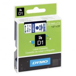 Dymo Cintas D1 Rotulacion 12 Mm X 7 M Azul/blanco Adhesivo Permanente S0720540