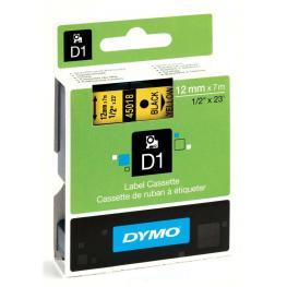 Dymo Cintas D1 Rotulacion 12 Mm X 7 M Negro/amarillo Adhesivo Permanente S0720580