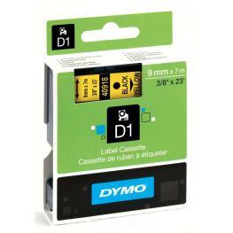 Dymo Etiquetas D1 Poliester Opaco 9Mm 7M Negro/amarillo Con Adhesivo Permanente S0720730