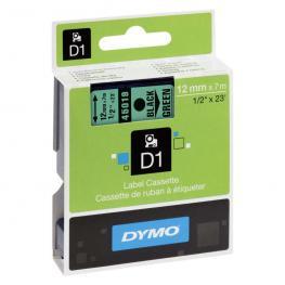Dymo Cintas D1 Rotulacion 12 Mm X 7 M Negro/verde Adhesivo Permanente S0720590