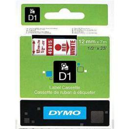 Dymo Cintas D1 Rotulacion 12 Mm X 7 M Rojo/blanco Adhesivo Permanente