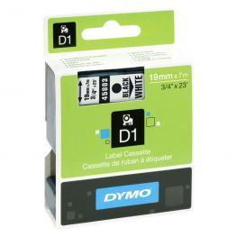 Dymo Cintas D1 Rotulacion 19 Mm X 7 M Negro/blanco Adhesivo Permanente S0720830