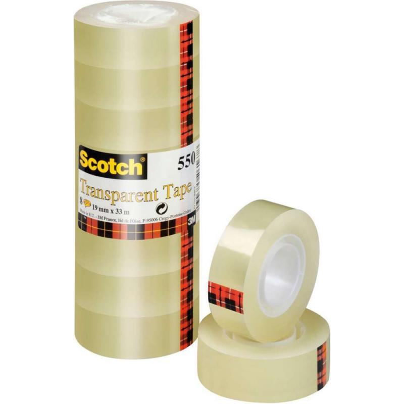 Scotch Cinta Adhesiva  19 Mmx33 M Acordeon 8 Ud  Ft510063306