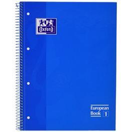 Oxford Cuaderno Espiral School 80H A4 Cuadricula 5X5 Turquesa 400028276
