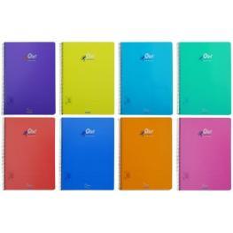 Cuaderno Olef Fº Tapa Pp Pauta 2,5 80H 90Gr Colores