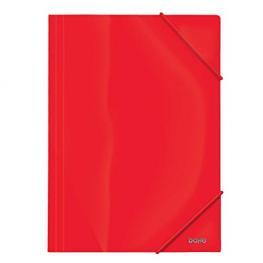 Carpeta A4 Gomas Pp Opaco Rojo Dohe