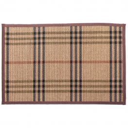 Alfombra de Bambu Decorada A - Bambu + Cotton Fabric