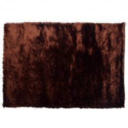 Alfombra Unicolor Marron Pelo