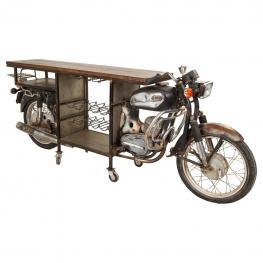 Barra Botellero Moto de Madera
