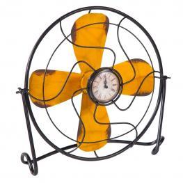Reloj Ventilador de Metal de