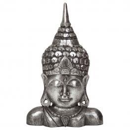 Budha de Madera En Plata