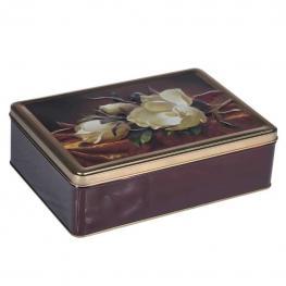 Caja Metal Flores - Metal