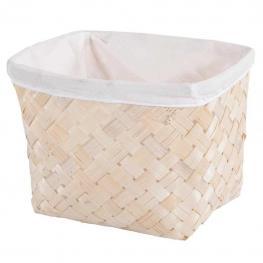 Cesto de Bambu Natural Con - Bambu + Cotton Fabric
