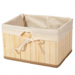 Cesto de Bambu Plegable Lacado