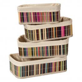 Cestos de Bambu Lacado Colores