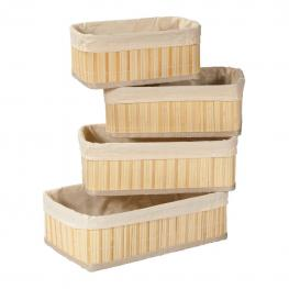 Cestos de Bambu Lacado Natural