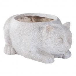 Macetero Gato de Fibra de