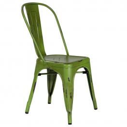 Silla de Metal Lacado Verde