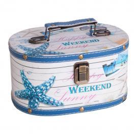 Neceser Ovalado Marina Azul - Dm Impreso