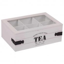 Caja de Te de Madera Lac Blanco