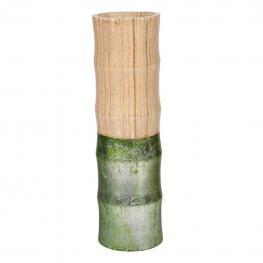 Jarron de Bambu Decorado En - Bambu