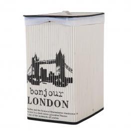 Kit Ropero Blanco London - Tiras Bambú + Tela